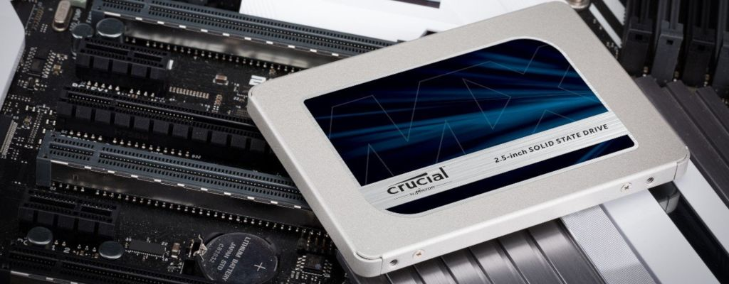 Crucial 2.5-Inch SSD Placed on Motherboard