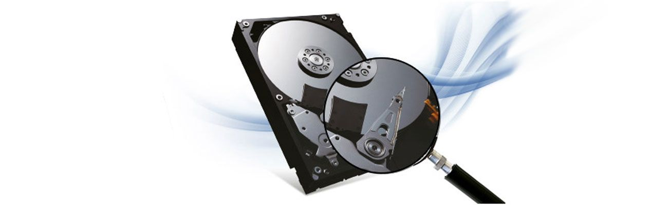 HDD Under Magnifiying Glass