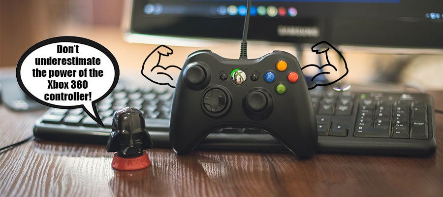 darth vader and xbox controller on pc