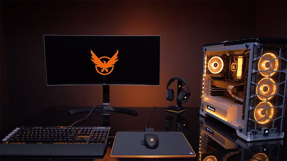 Gaming Station with Gaming PC Case