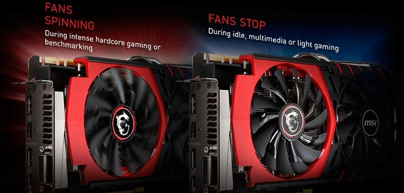 msi gpu fans displayed