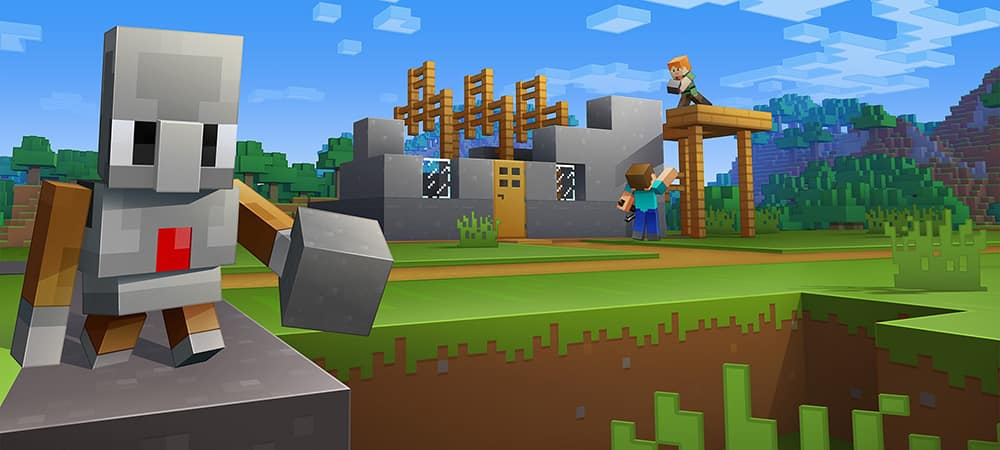 minecraft building a house