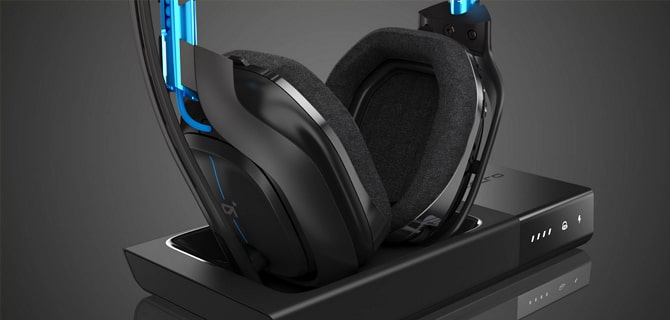 Astro A50 headset blue earcups and earpads