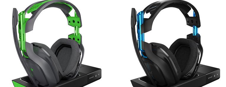 Astro A50 headset green and blue