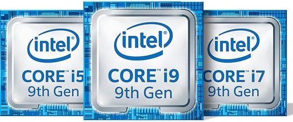 intel 9th gen i5 i9 i7