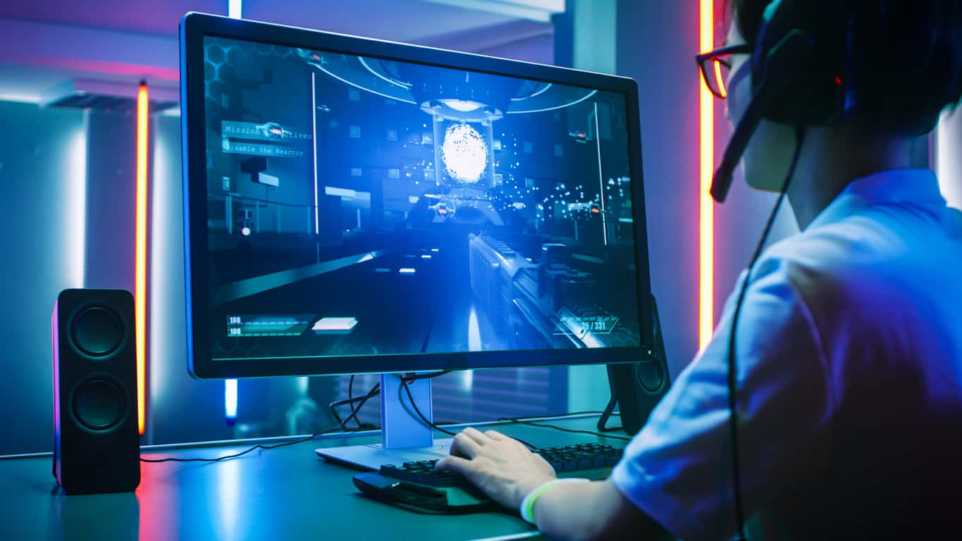 video games on a gaming monitor