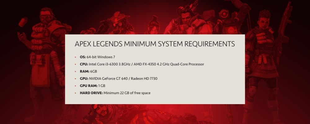 Apex Legends Minimum System Requirements